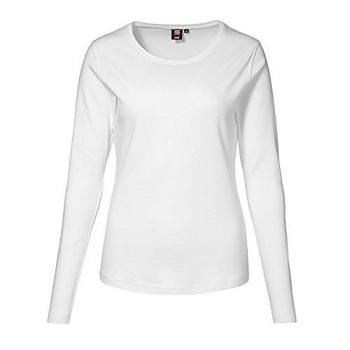 ID Identity Interlock T-Shirt langarm Weiß