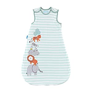 The Gro Company – Saco de dormir para bebé con motivos de animales de la selva azul Talla:0-6 meses