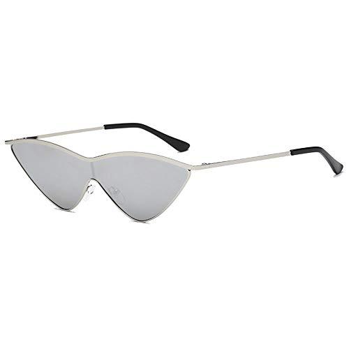 jgashf Cat Eye Sonnenbrille Sunglasses Fashion Elegante Schick Big Metallrahmen Marke Classic Tone Vintage Coole Vollformat-Brillen Uv-Schutzbrillen (A)