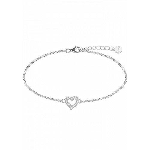 Xenox XS3413N Armband Damen Love Story Herz Zirkonia Silber