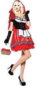 Red Hood Sweetie - Red Riding Hood - erwachsenes Abendkleid- Kostüm - One (Red Riding Kostüm Hood)