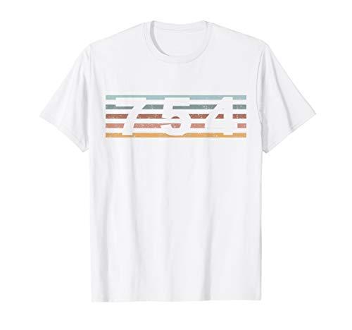 754 Vorwahl Retro Florida Fort Lauderdale T-Shirt
