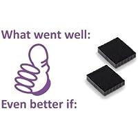 Dos almohadillas de tinta para lo que ha ido bien.. Mejor si.. De Trodat Printy 4933(violeta)