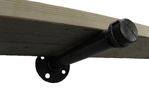Kommode Plan (irwost–Das Original–Halterung Regal Typ rechts Finish Stahl poliert für Regal, Pied de table oder Waschtisch-Stil deco Design industriellen Retro.)