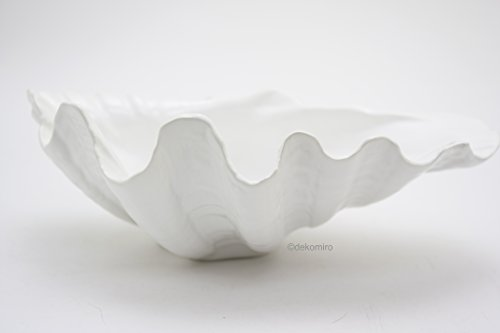 Flair 990161 Bad Accessoires | Deko Muschel aus Keramik | 25x18x9 cm Weiß