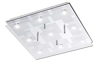 Paul Neuhaus 6110-17 Luminaire de Plafond LED 3,3 W Chrome 40 x 40 x 7 cm