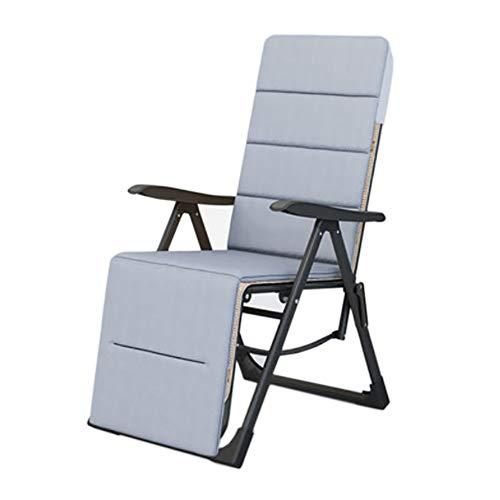reclinabile schienale regolabile a quattro stagioni, stuoia per sedia a sospensione portatile a gravità zero, cuscino rimovibile, adatto per uso all'aperto nei giardini all'inglese