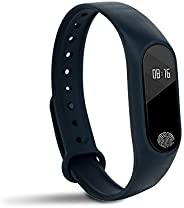 JSTOR Multifunctional Black Smart Fitness Activity Tracker Unisex Band Watch