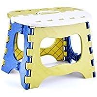 HOUHOUNNPO Ejercicio Cómodo Taburete de plástico Plegable Step Taburete de Pesca Portátil Infantil Mazal de Adultos (Color Aleatorio)