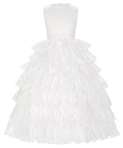 Fille Robe de Princesse Robe de Baptême Cérémonie Mariage 2~3 Ans FR8987-1
