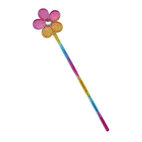 (Bristol Novelty BA484Glitter Rainbow Blume Zauberstab, Unisex, Mehrfarbig, One Size)