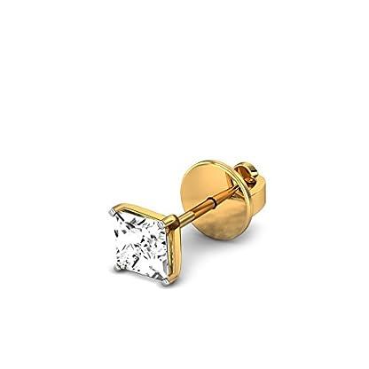 Candere By Kalyan Jewellers Keelin 14k Yellow Gold and Diamond Stud Earrings