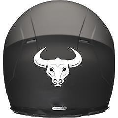 DELHI TRADERSS Vinyl Bull Head Decal Bike Sticker for All Helmet White