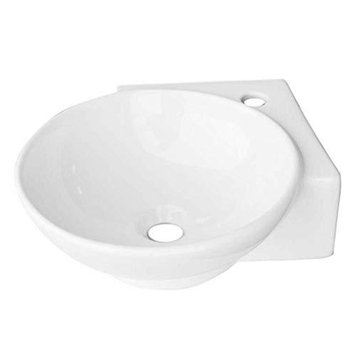 LAVABO AD ANGOLO Ceramica LINPHA MODELLO LN300 Lavandino cm 36 x 36 Bianco