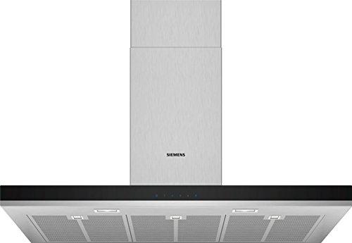 Siemens LC97BHM50 Dunstabzugshaube/Wandhaube / 90 cm/Metall-Fettfilter/Doppelflutiges Hochleistungsgebläse/Edelstahl