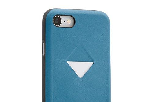 Portefeuille en cuir Bellroy iPhone 8 / 7 Phone Case - 1 carte Blue Steel Arctic Blue