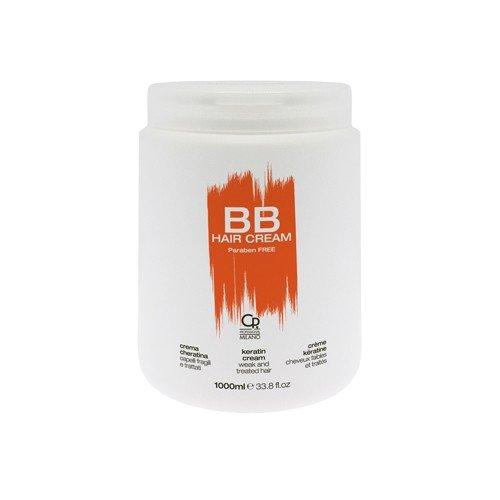 Scheda dettagliata BB Hair Care - Cream Cheratina - Maschera Professionale Ideale per Capelli Trattati e Indeboliti - Trattamento Balsamo Riparatore e Revitalizzante - 1 L