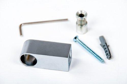 Wesco Relingsystem 16mm Rohrhalter Eckig Chrom mit Hülse Küchenreling Rohr