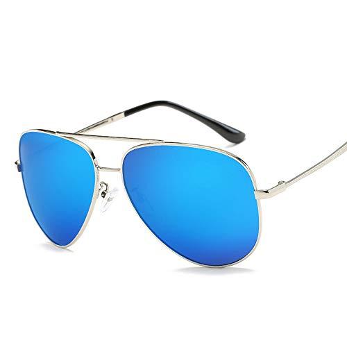 Easy Go Shopping Trend polarisierten Sonnenbrillen Männer Frauen Retro-Mode Sonnenbrillen Sonnenbrillen Fahren Sonnenbrillen und Flacher Spiegel (Color : Blau, Size : Kostenlos)