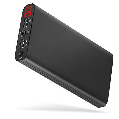 kaide Externer Akku 24000mAh Powerbank Typ C Eingang Dual Output Tragbares Ladegerät mit großer Kapazität Ultrakompakte Power Bank für Mobiltelefone, Tablet