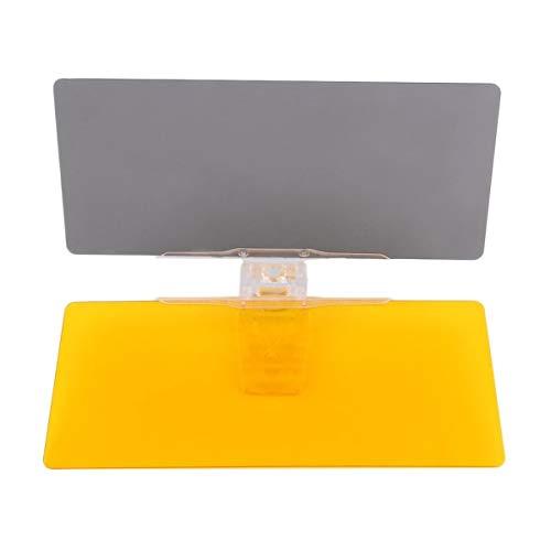 Gugutogo Auto-Sonnenschutz Tag-Nacht-Sonnenblende Anti-Glare Spiegel Clips Clip-Antrieb des Fahrzeugs auf Schild für die meisten der Sonnenblenden (gelb und grau)