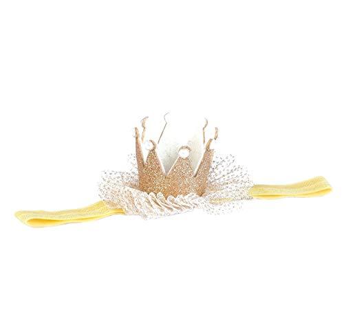 EROSPA® Kopfband Haarband für Babys Kleinkinder - Krone Prinzessin - Mädchen - Gold
