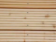 Naturholzdielen deutsche und Lärchendielen Terrassendielen in 27mm Dick, 143mm Breit u. 1990mm Länge 2 Stück beidseitig grob geriffelt auch für Hochbeete witterungsbeständig
