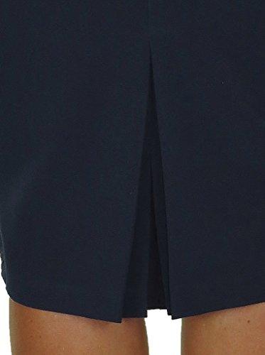 ICE Jupe, au-dessous du genou, avec doublure 38 à 48 Bleu Marine