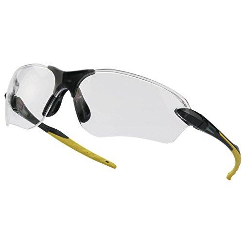 Tector Flex klar Schutzbrille   Schwarz-Gelb   EN 166 zertifiziert   Kratzfest   klare Scheibe   elastische Brillen- und Nasenbügel   Gute Qualität ✔ Leicht ✔ sportliches Design ✔ super bequem