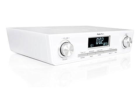 AudioAffairs Küchenradio UKW FM Unterbau-Radio Küchenunterbauradio mit LED Licht, Unterschrank-Küchenradio und Back-Timer - Nur erhältlich auf Amazon.de