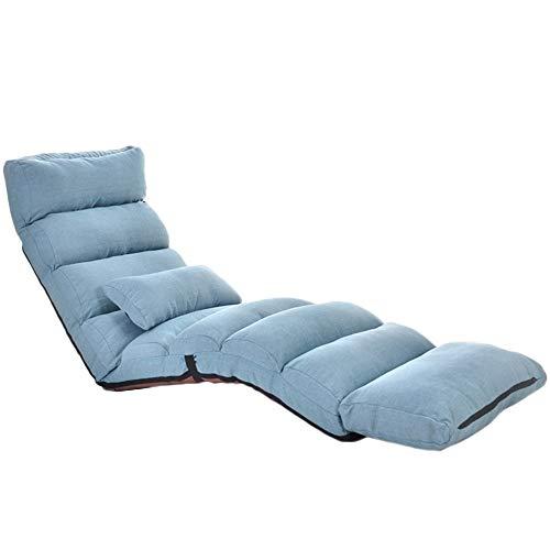 Schlafzimmer Liege (Qing MEI- Lazy Couch Home Liege Faltbare Sofa Stuhl Schlafzimmer Balkon Verlängert Verstellbare Liege Lesestuhl Meditation Stuhl - 3 Fach (Color : C))