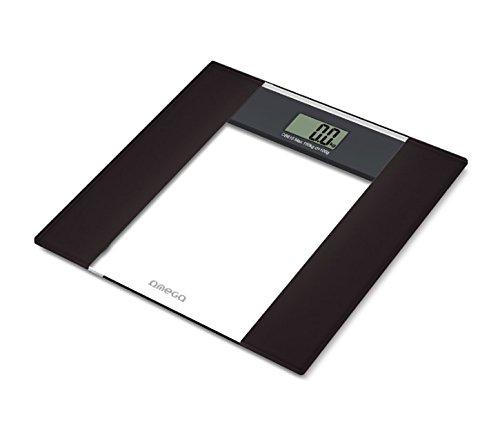 Omega OBS615 - Báscula de baño (LCD, 22 x 51 mm, Negro,...