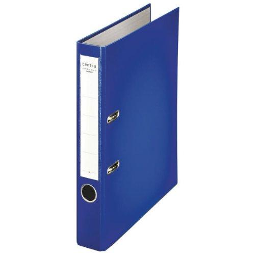 LEITZ Ordner DIN A4 mit Kunststoffoberfläche - Rückenbreite 55 mm, VE 25 Stk - blau - Ablagesystem Aktenordner Ordner Ordnungssystem Ringordner Stehordner