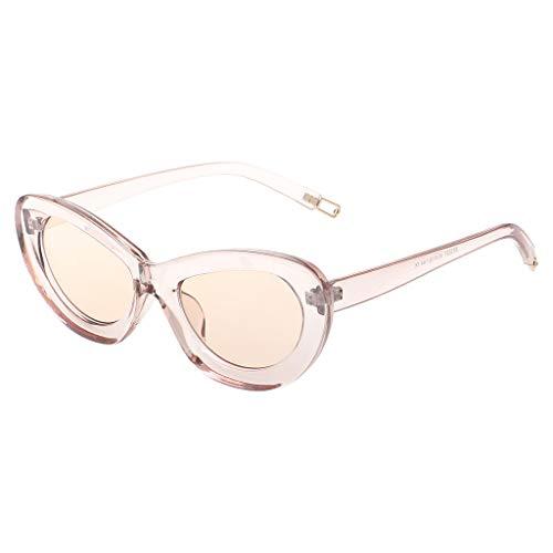 b95dff648b Yanhonin Lunettes De Soleil Cat Eye Candy Color UV400 Lunettes De Protection  à La Mode Chic