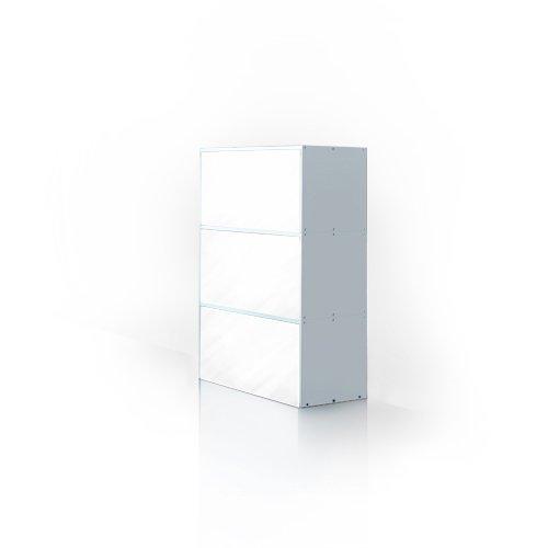 weko Systemmöbel baureihe e AZ-TYP-7B Schrank, Holz, hochglanz weiß, 40 x 80 x 121 cm