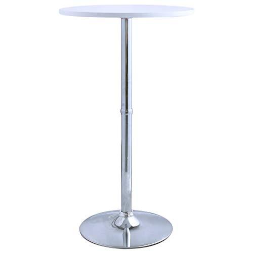 Duhome Elegant Lifestyle Bartisch Stehtisch Weiß aus Holz (MDF) Bistrotisch Tisch Hochtisch Höhe 105cm Farbwahl