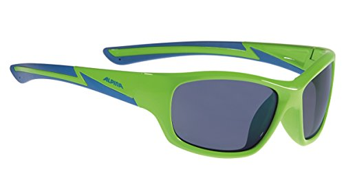 ALPINA Kinder Flexxy Youth Outdoorsport-Brille, Neon Green-Blue, One Size
