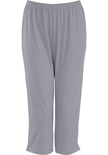Trigema Damen 3/4 Freizeithose, Pantalon de Sport Femme cool-grey