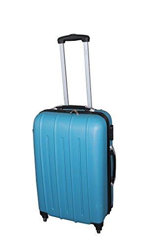 PURE Koffer COLORFUL / Koffer-Set / Reisegepäck / Hartschale / Handgepäck / Kofferset / Trolley / ABS / 4 Rollen / Zahlenschloss (türkis, S)
