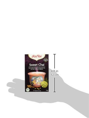 Yogi-Tea-Bio-Tee-Sweet-Chai-Ayurvedische-Gewrzteemischung-mit-Anis-Fenchel-und-Sholz-17-Teebeutel-34-g