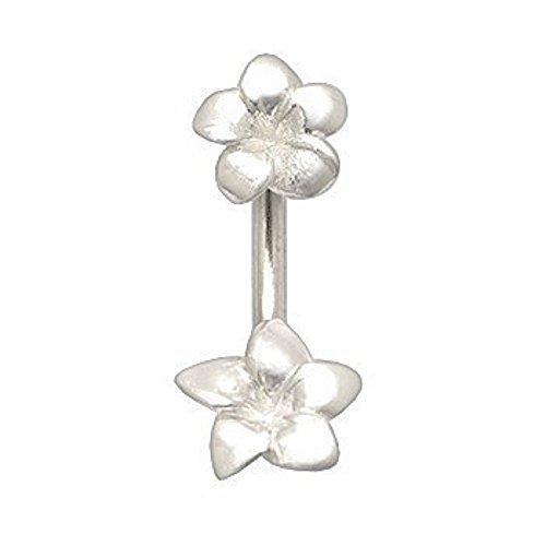 Bauchnabel-Piercing Schmuck Stecker 925er Silber Blume