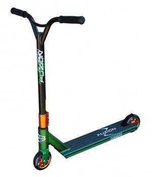 city-scooter-fuzion-z350-green-alu