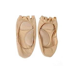 Heaviesk 1 Paar Fünf Zehen Massage Socken Fußpflege Zehen Kompressionssocken Offene Zehen Unsichtbare Bootssocke Rutschfeste Massage Socken Unterstützung