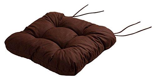 Stuhlkissen Sitzkissen Kissen mit Bändern 40x40x8 cm 'Kapstadt' braun