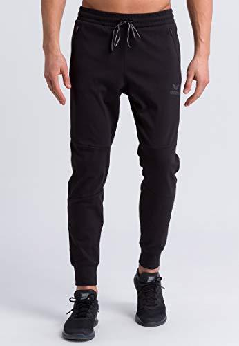 ERIMA Erwachsene Essential Sweathose mit seitlichen Reißverschlusstaschen, schwarz, M
