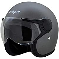 Vega Jet Open Face Helmet (Dull Anthracite, L (60 cm))