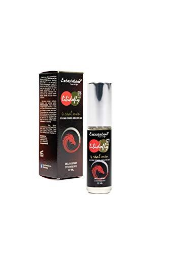 Extasialand Libidofly® Delay Spray Strawberry (22 ml) rezeptfreies Markenprodukt Potenz-mittel mit Erbeer-Geschmack zur Orgasmus Verzögerung & Verlängerung der Erektion vom Experten