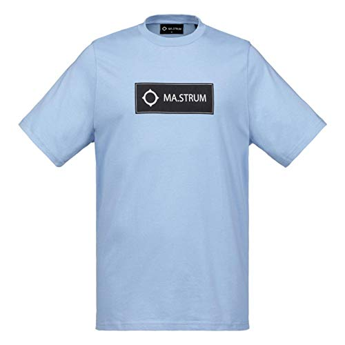 MA Strum T-Shirt Icon Box Logo Crew Neck - Dutch Blue for sale  Delivered anywhere in UK