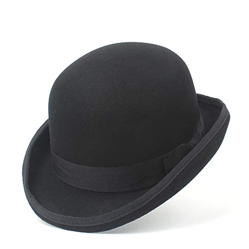 Retro, Klassische Melone 100% Wolle Herren Bailey von Hollywood Fedora Hut für Gentleman Crushable Hantom Dad Bowler Billycock Hüte Hochwertige Materialien