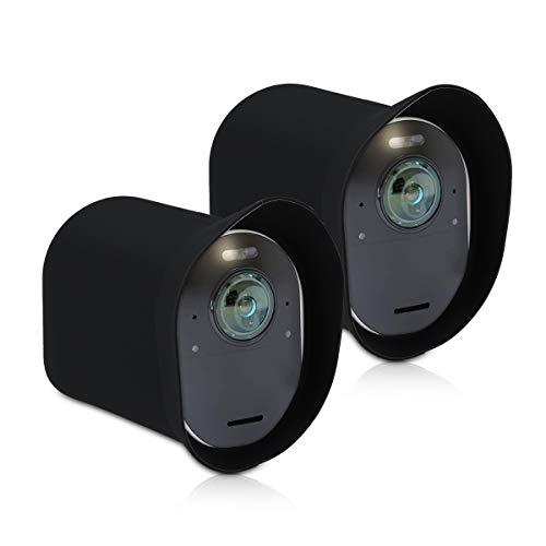 kwmobile 2X Arlo Ultra/Arlo Pro 3 Hülle - Silikon Security Camera Cover Schutzhülle für Arlo Ultra/Arlo Pro 3 Kamera - Schwarz